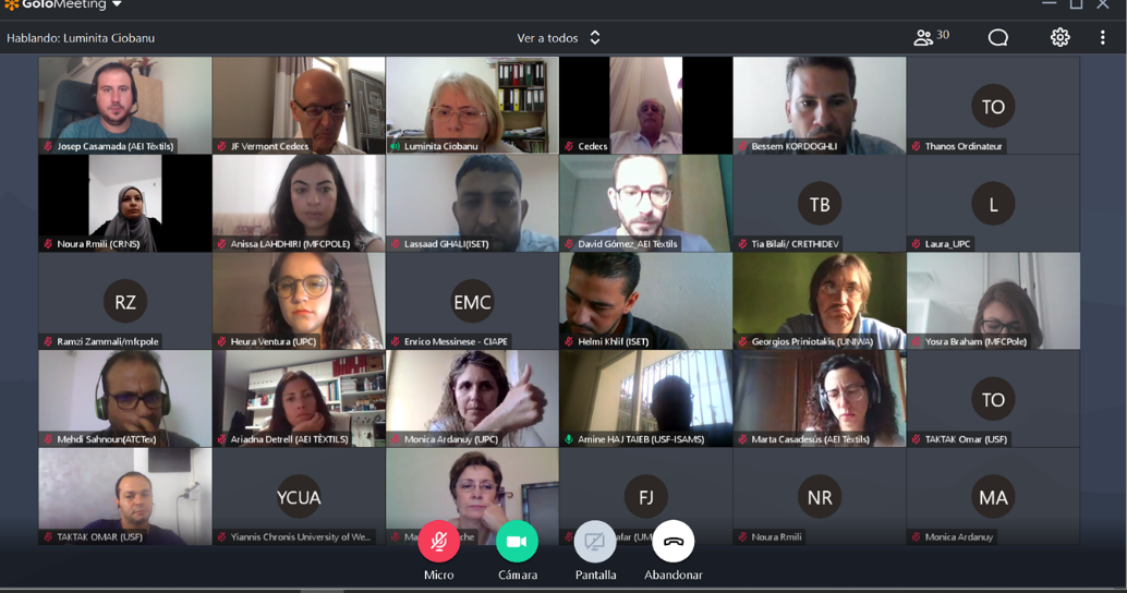 WINTEX partners met virtually during the second project meeting